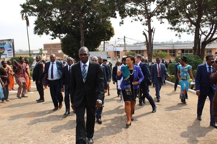 La Baronne Patricia Janet Scotland QC, Secrétaire Générale du Commonwealth en visite à Synergies Africaines.